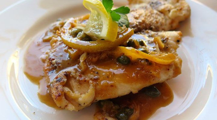 Chicken Piccata with Capers and Parsley Recipe