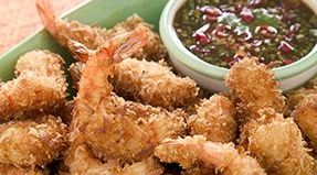 Coconut-Crusted Shrimp with Tamarind-Honey Sauce