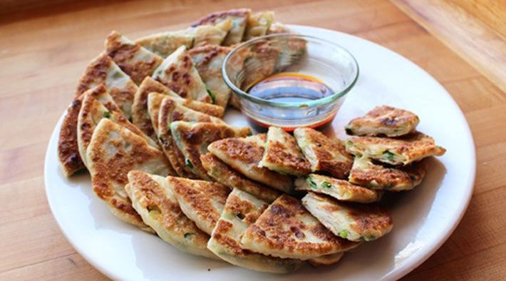 Scallion Pancakes, Hand-Rolled with Chili Oil and Tamari Dipping Sauce Recipe