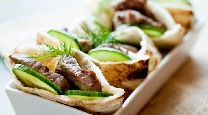 Lamb Gyros with Yogurt, Cucumber and Dill Sauce Recipe
