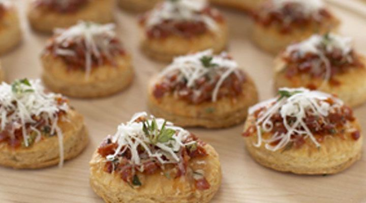 Asiago and Pepperoni Puff Pastry Pizzas Recipe