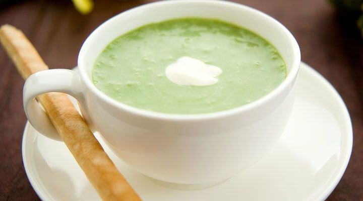 Asparagus Soup with Lemon Creme Fraiche Recipe