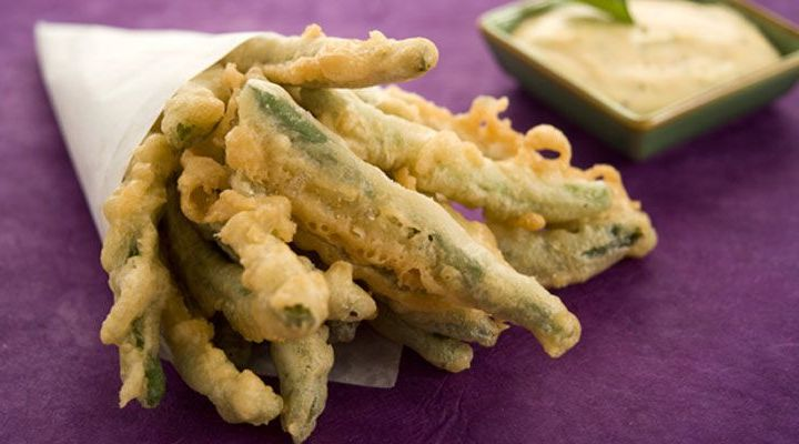 Batter Fried Green Beans With Spicy Ponzu Recipe