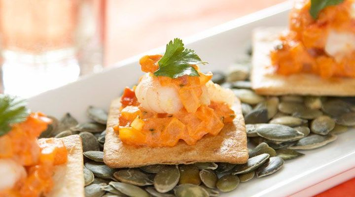 Brioche Tartines Topped with Dungenes Crab and Shrimp Salad Recipe