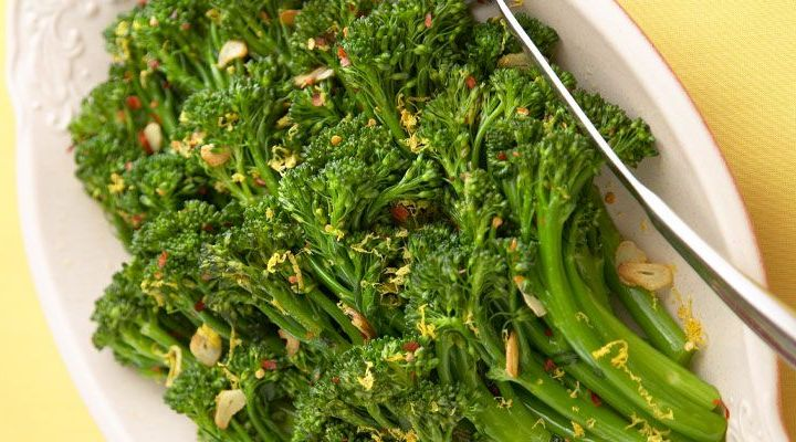 Broccolini with Crispy Lemon Breadcrumbs, Basil Oil and Aged Balsamic Vinegar Recipe