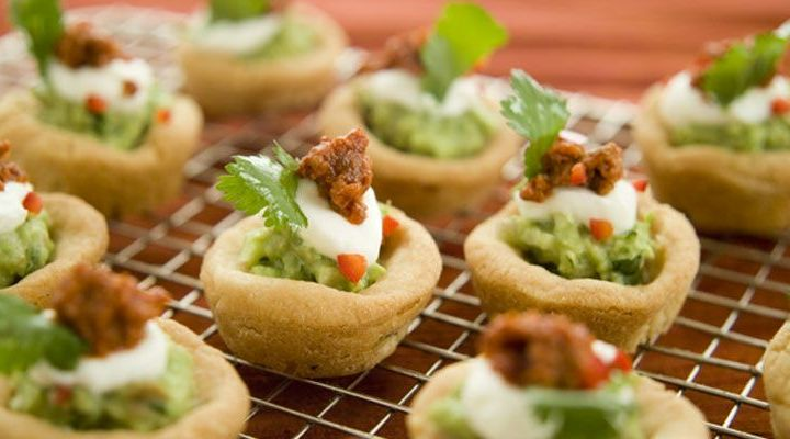 Chalupas with Smashed Avocado, Chorizo, and Lime Sour Cream Recipe