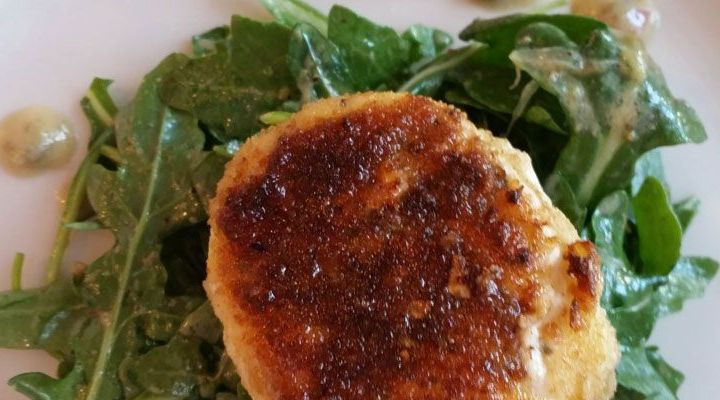 Crab Cakes with Herb Salad Recipe