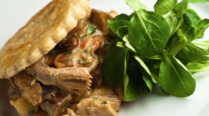 Holiday Entree Recipe: Roasted Turkey And Root Vegetable Pot Pie Napoleon