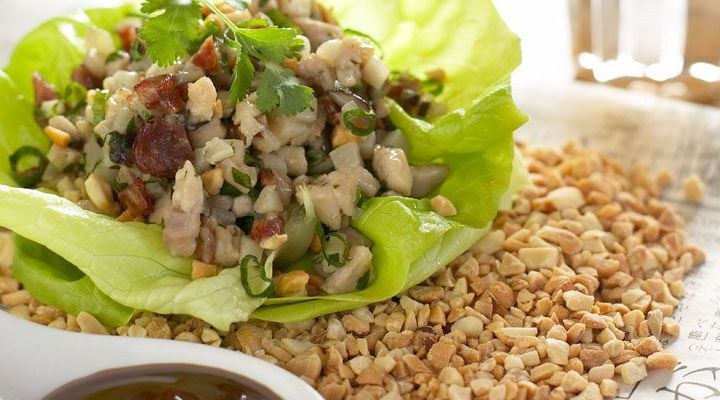Lettuce Cups Filled With Gingery Pork, Shiitake Mushrooms and Hoisin Sauce Recipe