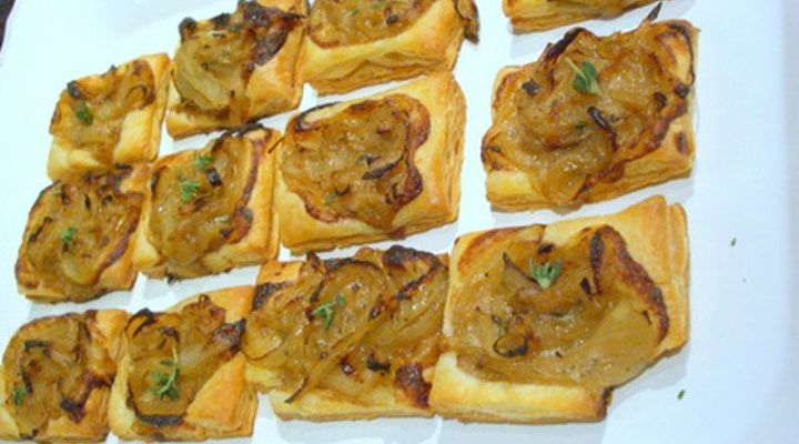 Mini Onion and Black Olive Tartlets