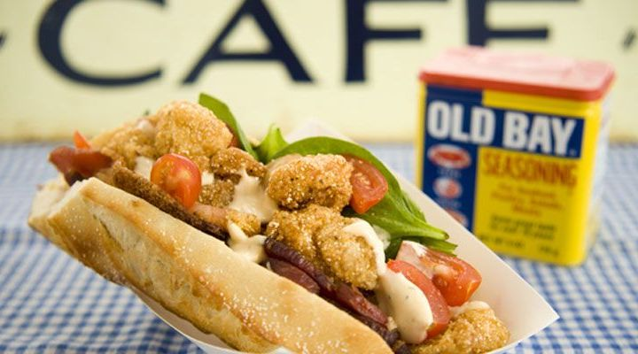 Mini Shrimp Po' Boys With Bacon Mayo Recipe
