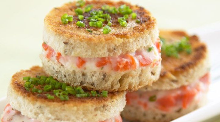 Mini Smoked Salmon Croque Monsieur Sandwich Recipe
