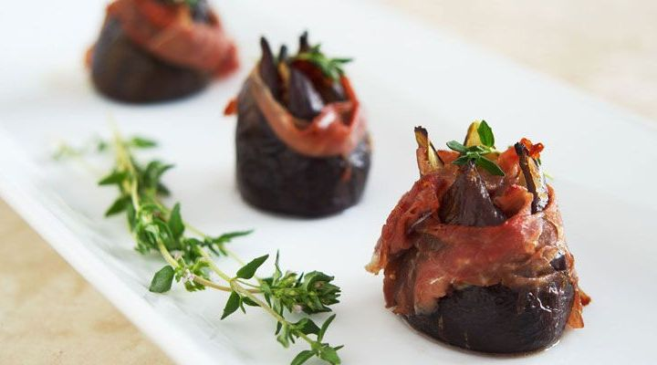 Oven-Roasted Figs Wrapped in Prosciutto with Melted Gorgonzola Centers Recipe