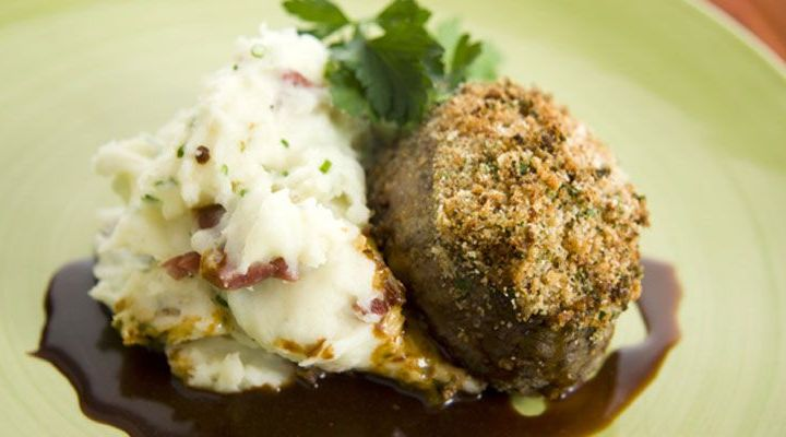 Parmesan and Herb Crusted Filet Mignon Recipe