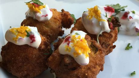 Smoked Trout Beignets with Caraway, Orange and Cranberries Recipe