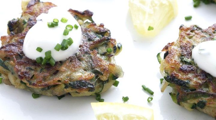 Zucchini Pancakes with Feta, Capers and Mint Recipe